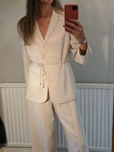Ann Taylor dark Cream Trouser Suit us12 uk16 like co-ord set