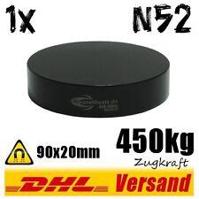 Super starker großer schwarzer Neodym Industrie Magnet 90x20mm 450kg N52