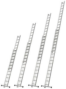 Alu-Pro Seilzugleiter 2x12 2x14 2x16 2x18 Spr. L3,42-9,06m Leiter Hymer 70051..