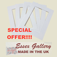 JOBLOT 50 - 8x6 for 6x4 Picture And Photo Mounts POLAR WHITE