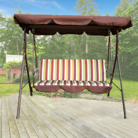 Outdoor 3 Person Canopy Swing Chair Patio Backyard Awning Yard Porch Furniture