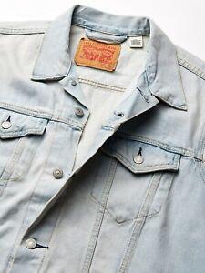 Levis Mens Cotton Trucker Vest Regular Fit Button Up Fauxnaise Light Blue