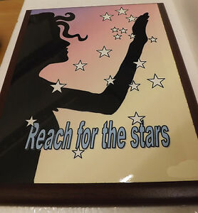 Reach for the Stars wall hanging , positive message on wall plaque