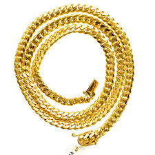 """Miami 10 mm Solid Cuban Link 10KT Yellow Gold Chain 30"""" long Chain Necklace."""