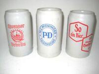 3 alte Brauerei Krüge   Bierkrug 1 L   Mass  Steinzeug   old Beer Mug    _ Nr 2