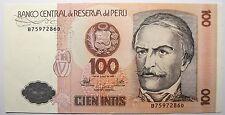 - Très beau billet - PEROU - 100 Intis - 1987 -