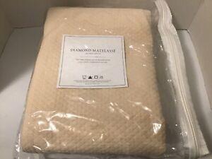 """Restoration Hardware Diamond Matelasse Shower Curtain 72""""X72"""" New"""