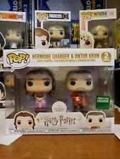 Funko Pop Barnes Noble Harry Potter Hermione Granger Viktor Krum Yule 2 Pack Set