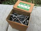 """New Box 144 #16 x 2-1/2"""" Bright Steel Flat Head Wood Screws Slotted So-Hard USA"""