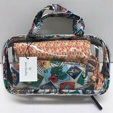 Vera Bradley Mini Ditty Travel Set Cuban Stamps NWT