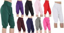 Womens ALI BABA 3/4 length lot Trouser Baggy Short Harem Pants Summer Size 8-26