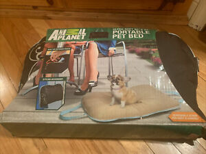 """ANIMAL PLANET Ultra-Soft Portable Pet Bed.20""""X27"""" NEW Dogs & Cats Zippers Up"""