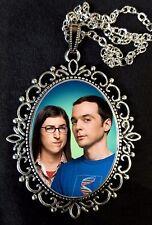 Sheldon e Amy Big Bang Theory Grande Collana con Pendente Argento Anticato Serie TV