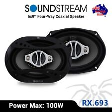 "NEW SoundStream RX.693 6x9"" 4-Way Coaxial Speakers 100W (50W RMS)"