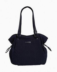 NWT Vera Bradley Iconic Glenna Satchel Bag in microfiber Classic Navy R$110