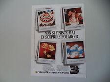 advertising Pubblicità 1984 POLAROID