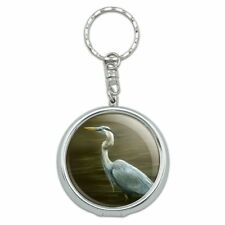 Great Blue Heron Portable Travel Purse Ashtray Keychain w/ Cigarette Holder