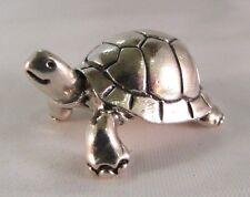 Miniatura statuina argento Tartaruga Terrestre (midi) fatta a mano argento 800