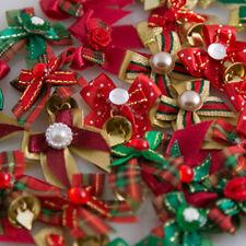 Dog Grooming Bows, Dog Hair Bows, Fabric Bows - 14 Pcs. Christmas Bows
