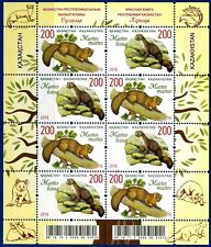 2016. Kazakhstan. Fauna. The Red Book. Martens. MNH. Sheet