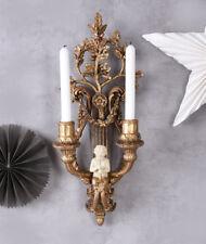 Wandleuchter Barock Kerzenhalter Satyr Hängeleuchter Kerzenleuchter Kandelaber