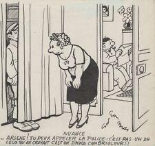 """""""NUANCE"""" Dessin à l'encre de Chine par Gaston MAS pour LE MERINOS en 1944"""