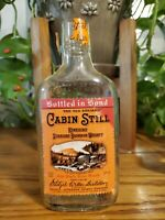 KENTUCKY STRAIGHT BOURBON WHISKEY 1/2 PINT BOTTLE OLD CABIN STILL FREE SHIPPING