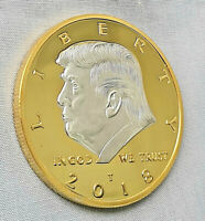 Donald J Trump Gold & Silver Coin God Bless Make America Great Again Medal Retro