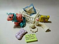 Vintage G1 Hasbro My Little Pony Baby Firefly Some Accessories MLP