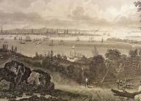 NEW YORK - Stahlstich von F.Geissler nach Dupeè Stahlstich um 1850