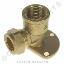 """BPE01 BRASS SCREW COMPRESSION BACKPLATE ELBOW CONNECTOR 1/2"""" x 15mm GAS WATER"""
