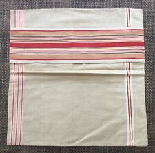 More details for vintage german mangle cloth / french ticking cushion pillow cover 2
