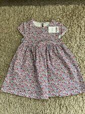 BNWT Next Girls Floral Print Short Sleeve Dress Size 2-3 years