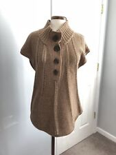 ee36f4f1bec1bf BCBG Max Azria Womens Tan Knit Cotton Lambswool Sleeveless Tunic Sweater  Size M