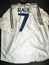 Authentic Raul Real Madrid Jersey 1999 - 2000 UEFA Shirt Camiseta Spain Espana