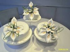 WEDDING CAKE SUGAR   LILLY SET OF 3 IN IVORY AVAILABLE IN MOST COLOURS