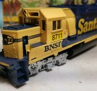 Athearn HO Scale BNSF Santa Fe patch gp60 Powered Diesel Locomotive nos