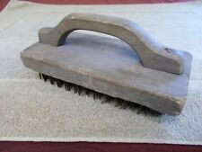 VGT HEAVEY DUTY WIRE BRUSH WOOD HANDLE ADVERTIZING WM IRWIN ARBUCKLE ERIE PA,