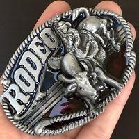 Rodeo Vintage Belt Buckle Western Cowboy SILVER HIGH QUALITY GUARANTEE MEN