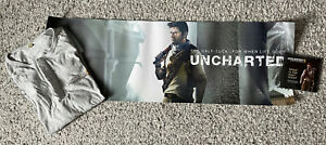 Uncharted 3 Drake's Deception Half Tuck Promo Shirt Poster DVD Sony PS3 PS4 PS5