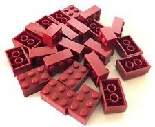 *NEW* 25 Pieces Lego 2x3 Brick DARK RED