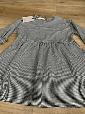 Zara Girls Checked Tunic Dress Age 9 Brand New With Tags