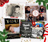 Personalised Pack Of Christmas Photo Thank You Cards + Envelopes ~ Fast Proof