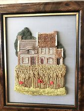 two 1989 Lilliput Lane Wall Plaque English Collection Flint Fields & Coombe Cot