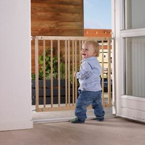 BabyDan MultiDan Wooden Baby Gate No Trip Wood Stair Gate 60-102cm