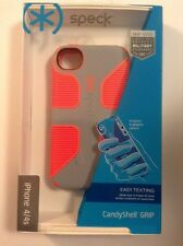 Speck Products iPhone 4/4S CandyShell Grip Case Orange/Gray SPK-A2986 NEW