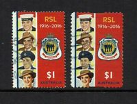 AUSTRALIA DECIMAL.2016 CENTENARY OF THE R.S.L..2 $1.00.STAMPS.SHEET STAMP & P/S