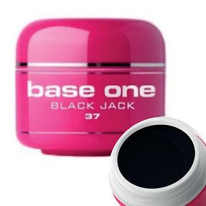 Silcare Base One Black Jack UV Gel Polish Pot Nail Art Design Colour Soak-Off 5g