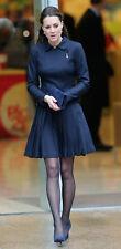 Orla Kiely GREEN wool crepe pleated skirt - Size UK 6 - Kate