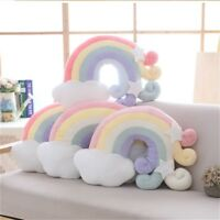 Rainbow Cloud Shell Cushion Kids Plush Toy Throw Pillow Home Sofa Bed Decoration